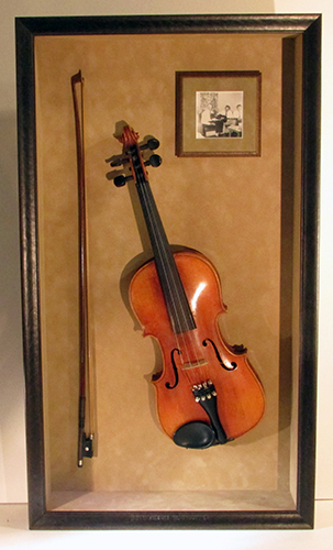 violin shadowbox frame