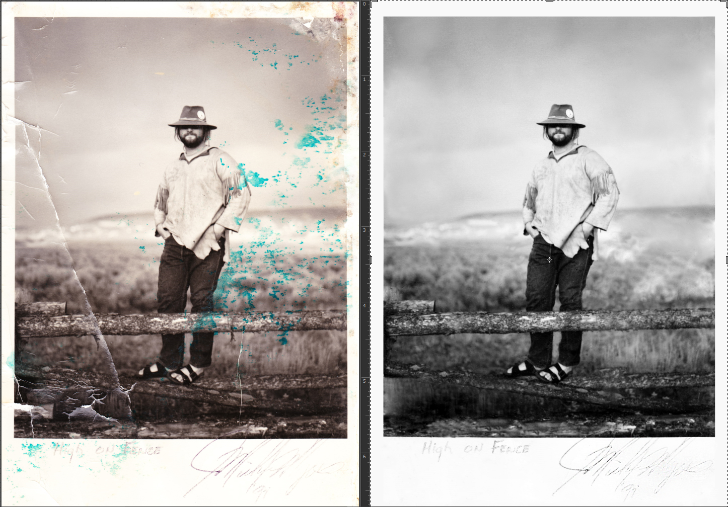 photo restoration at the frame and i