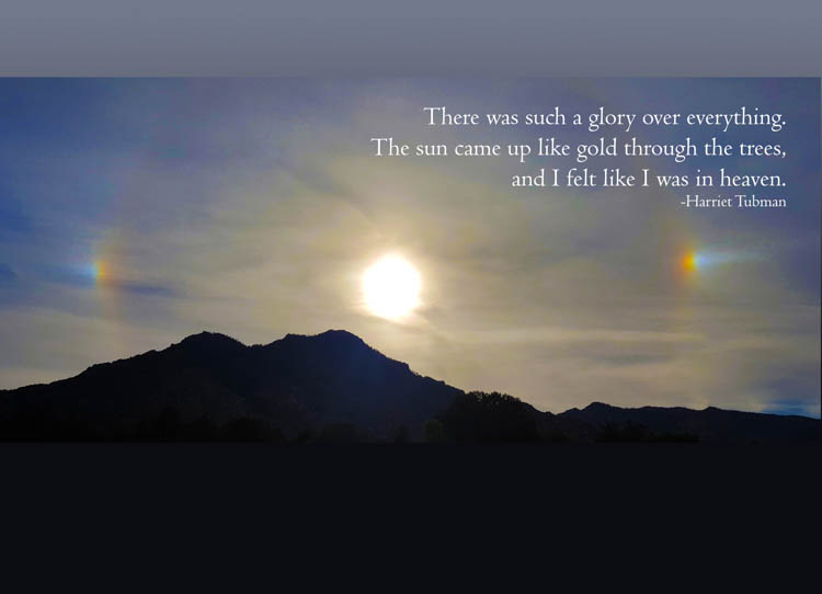 Sundog, Granite Mountain, Prescott az, hike, Harriet Tubman quotes, card, heaven, greeting card, sympathy card, blue, silhouette, sunset, ida kendall art, ida kendall photo, trails, boulders, mountains